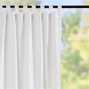 White Tab Top Curtains Tab Top Semi Opaque Outdoor Curtain Panels White