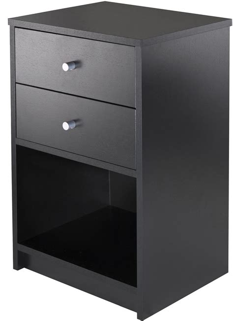 black accent table with drawer ava black 2 drawer accent table from winsomewood coleman