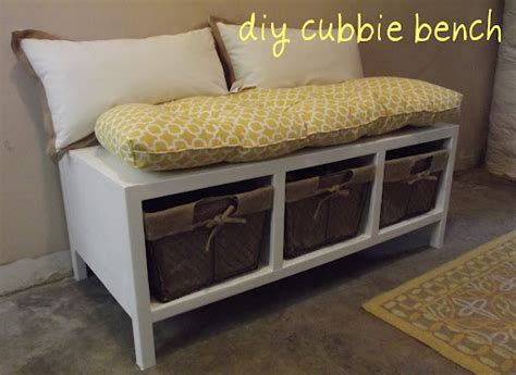 cubby bench plans diy cubbie bench seestephdostuff