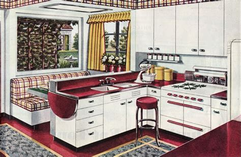 1940s Kitchen Design The Beautiful World Of 1940s Linoleum Flooring The Vintage Inn