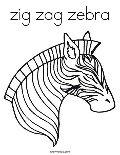 coloring pages for zigzag zig zag zebra coloring page twisty noodle
