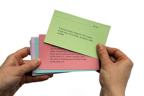 design cue card cue cards on behance