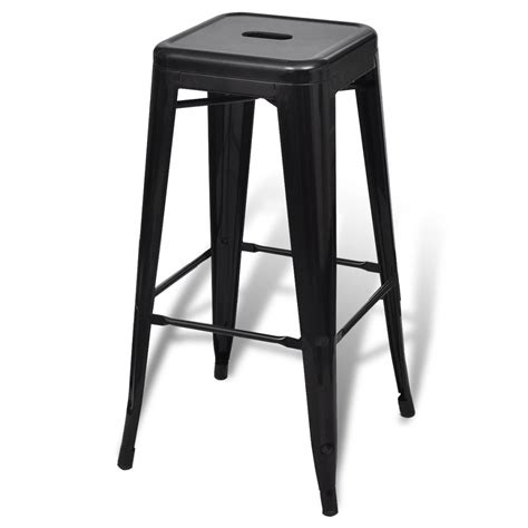 Bar Stools High by Bar Chair High Chair Bar Stool Square 2 Pcs Black Vidaxl