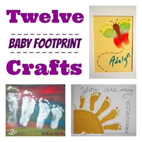 baby crafts 12 clever crafts featuring baby s footprints the stir