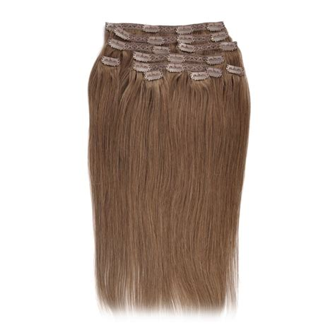 light cylinder hair extensions gex human hair clip in extensions light brown color