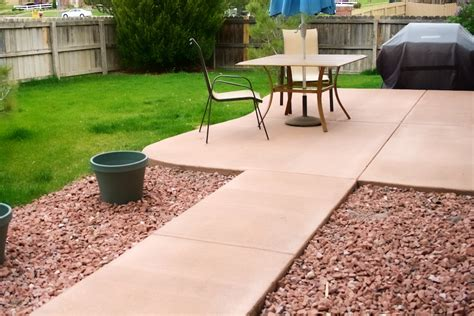 patio colored concrete patio home interior design