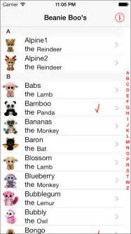 collectors list beanie boo apps 148apps