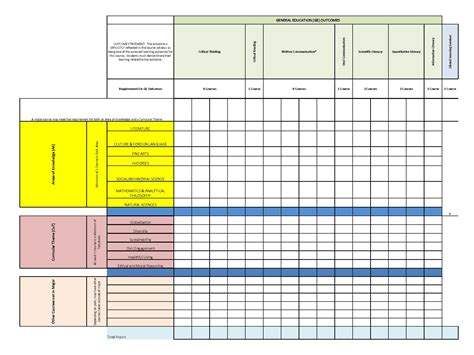 Framework Template by General Education Curriculum Requirements Winston