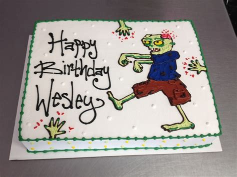 zombie themed birthday cakes the walking dead zombie themed birthday cake wild flour