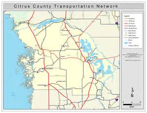 map citrus county florida citrus county road network color 2009