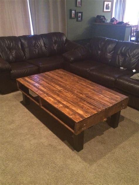 diy simple pallet wood coffee table pallet furniture plans