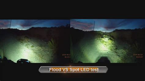 landscape flood light vs spotlight flood vs spot led test motorcycle led light 5qj8h