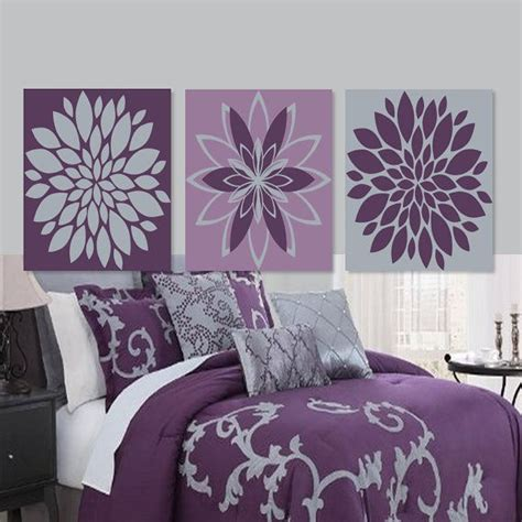 purple wall decor for bedrooms 17 best ideas about grey bedroom decor on pinterest gray 19572 | 68c6dd5a445e7d9aa99ac9fa7e7a674f