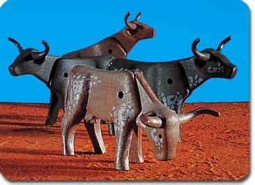 Set Catte playmobil set 7183 longhorn cattle klickypedia