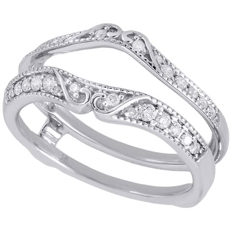 14k white gold solitaire engagement ring antique