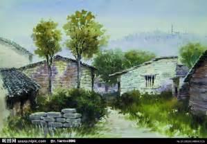 水彩風景畫設計圖 創作油畫 繪畫書法 文化藝 簡單風景水彩 斗圖網