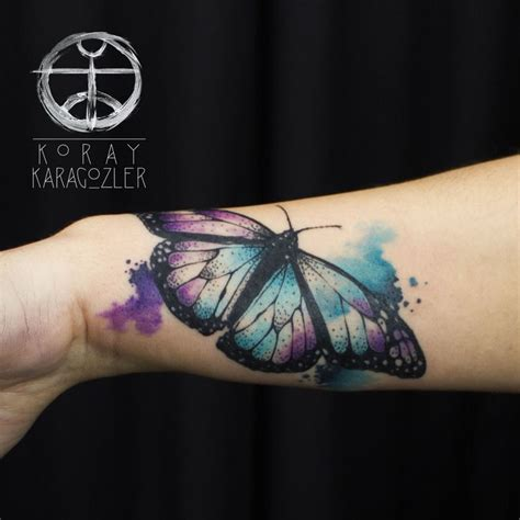 tattoo butterfly geometric watercolor butterfly abstract abstracttattoo antalya
