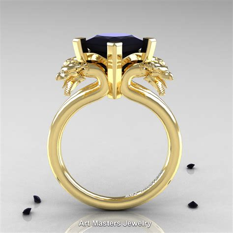 scandinavian 14k yellow gold 2 0 carat princess black