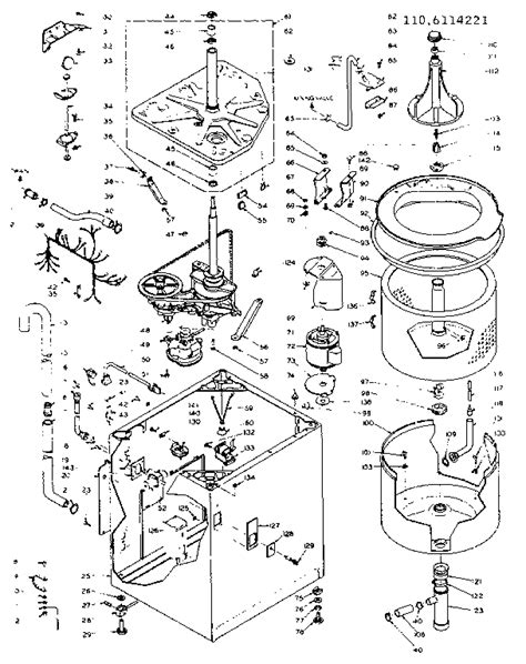 kenmore washing machine parts diagram kenmore 110 washer diagram wiring diagram with description