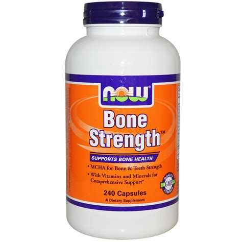 supplement j for niw now foods bone strength 240 capsules iherb