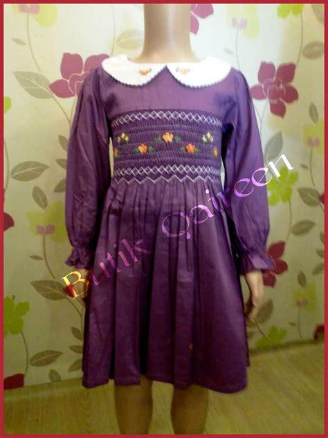 Baju Branded Wanita Maurices Lace Front Purple butik qaireen baju gaun kanak kanak smocking lengan panjang purple