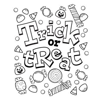 halloween coloring pages trick or treat trick or treat candy free n fun halloween from oriental