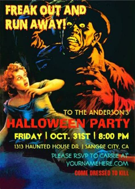 ghost film theme 34 best images about halloween party invitations on