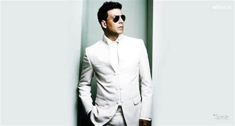 Akshay Kumar White Suit With Black Sunglass HD Wallpaper