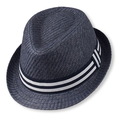toddler fedora hat toddler boys checked trim straw fedora hat the children