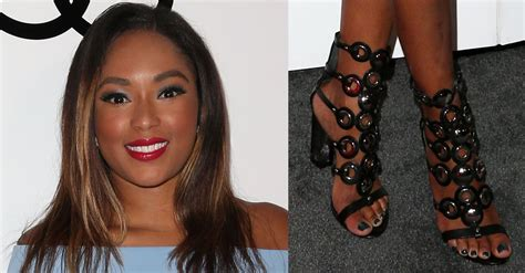 how old is alicia quarles alicia quarles flaunts legs in grommet studded caged heels