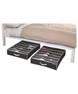 amazon under bed storage set of 2 under bed shoe storage boxes with lid 8755711 amazon co uk kitchen home