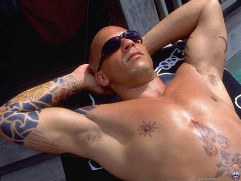 nipple tattoo vince young vin diesel with hair