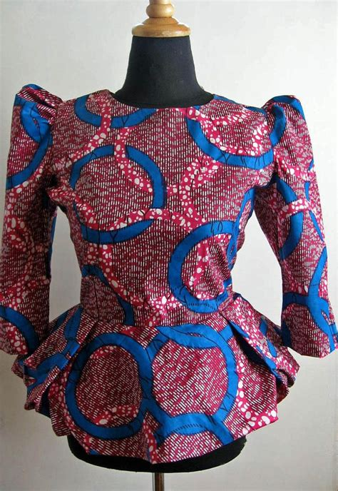 african kitenge tops african wax print peplum top 2 or choose a print