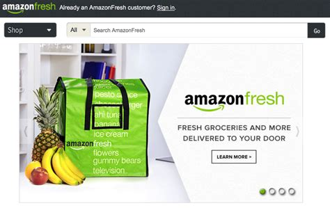 amazon fresh grocery service amazon fresh now requires 299 year