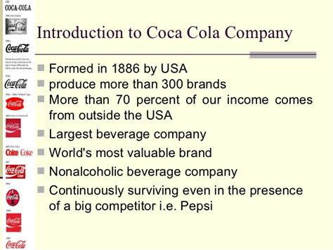 introduction of pepsi slideshare coca cola vs pepsi training process