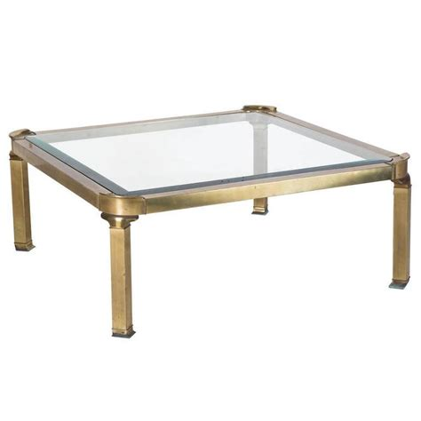 Glass And Bronze Coffee Table Gilt Bronze And Glass Coffee Table For Sale At 1stdibs