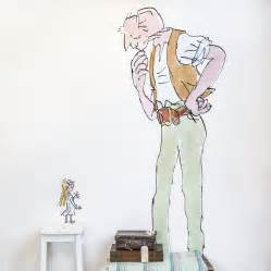 Large Jungle Wall Stickers quentin blake the bfg wall sticker by oakdene designs