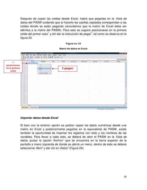 manual de spss 22 manual de spss pasw