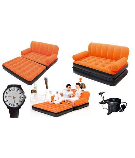 velvet sofa cum bed eo double velvet sofa cum bed air lounge inflatable orange
