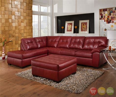 simmons grey leather sofa soho contemporary red leather sectional sofa w left chaise