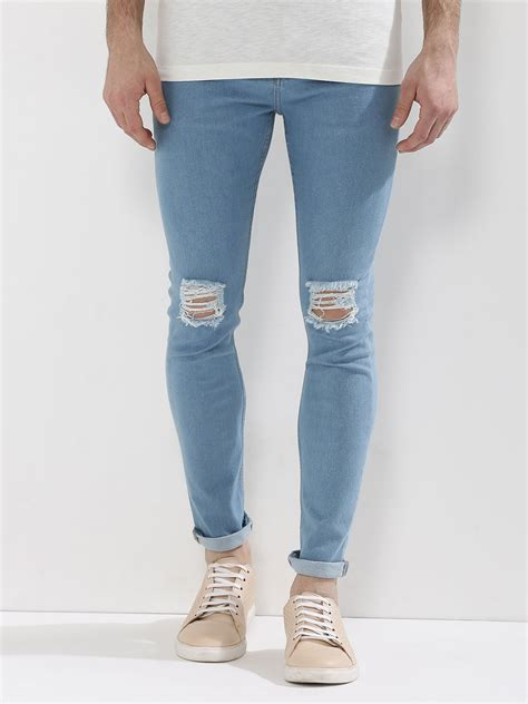 Knee Ripped Washed Premium Quality All Brand New ripped for light blue bbg clothing