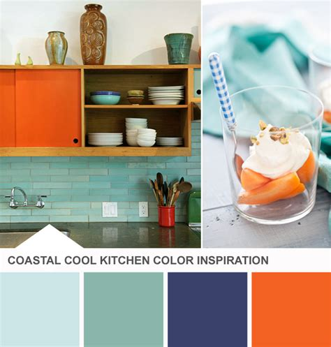 blue and orange kitchen color palette tuesday huesday