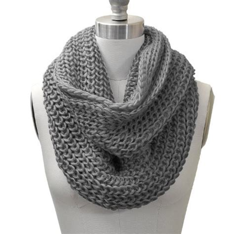 how to knit chunky infinity scarf chunky knit infinity scarf grey color top fashion web