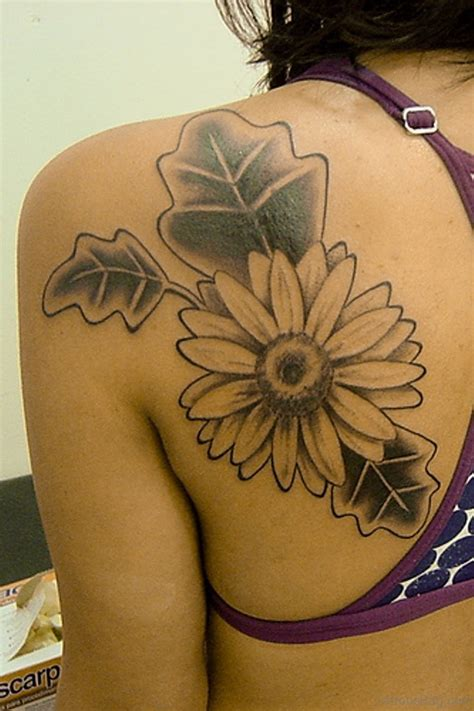 gerbera flower tattoo designs 34 traditional flowers tattoos designs on back