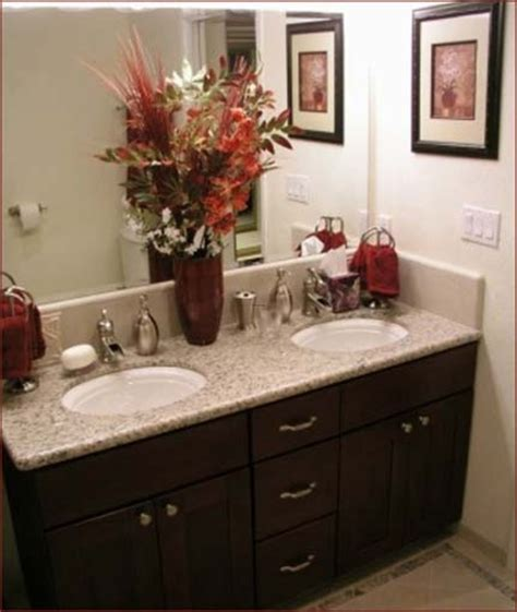 Decorating Ideas For Bathroom Counter Granite Bathroom Countertops With Pictures Design