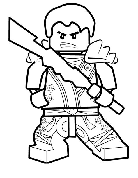 Lego Ninjago Coloring Pages For Kids Printable Coloring Ninjago Free Printable Coloring Pages