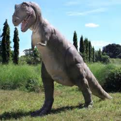 gigantic t rex dinosaur statue the green head
