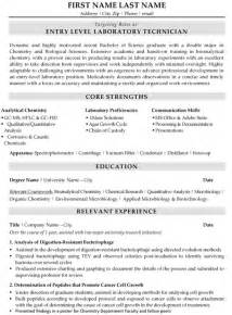 Laboratory Technician Assistant Sle Resume by Top Biotechnology Resume Templates Sles