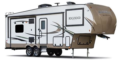 ultra light fifth wheel trailers 2018 forest river rockwood ultra lite fifth wheel