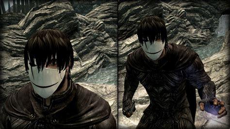 anime hairstyles skyrim skyrim male anime hair mod